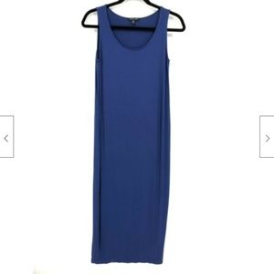 Eileen Fisher Blue Sleeveless Tank Midi Dress